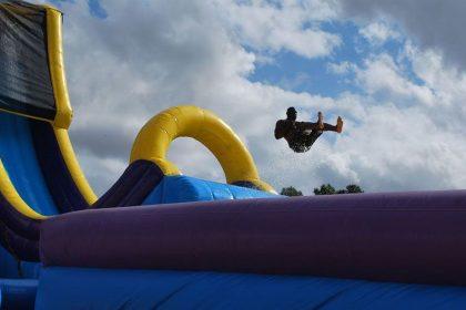 Drop kick slide